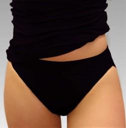 Damen Bikini-Slip in schwarz