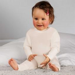 Baby-Strampler mit Zink, mit Stülphandschuhen