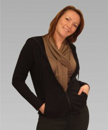 Damen Kapuzenjacke in schwarz