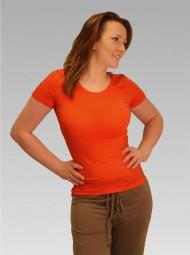 Damen T-Shirt in koralle